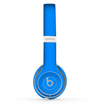 The Solid Blue Skin Set for the Beats by Dre Solo 2 Wireless Headphones