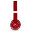 The Solid Dark Red Skin Set for the Beats by Dre Solo 2 Wireless Headphones