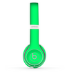 The Solid Green V2 Skin Set for the Beats by Dre Solo 2 Wireless Headphones