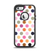 The Solid Pink & Blue Colored Polka Dots Apple iPhone 5-5s Otterbox Defender Case Skin Set