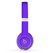 The Solid Purple Skin Set for the Beats by Dre Solo 2 Wireless Headphones