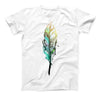 The Splatter Watercolor Feather ink-Fuzed Unisex All Over Full-Printed Fitted Tee Shirt