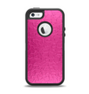 The Stamped Pink Texture Apple iPhone 5-5s Otterbox Defender Case Skin Set