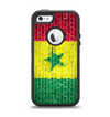 The Starred Green, Red and Yellow Brick Wall Apple iPhone 5-5s Otterbox Defender Case Skin Set