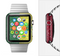 The Starred Green, Red and Yellow Brick Wall Full-Body Skin Set for the Apple Watch