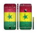 The Starred Green, Red and Yellow Brick Wall Sectioned Skin Series for the Apple iPhone 6/6s Plus