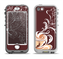 The Steaming Vector Coffee Floral Apple iPhone 5-5s LifeProof Nuud Case Skin Set