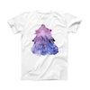 The Stenciled Watercolor Evergreen Tree ink-Fuzed Front Spot Graphic Unisex Soft-Fitted Tee Shirt