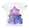 The Stenciled Watercolor Evergreen Tree ink-Fuzed Unisex All Over Full-Printed Fitted Tee Shirt