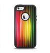 The Straight Abstract Vector Color-Strands Apple iPhone 5-5s Otterbox Defender Case Skin Set