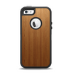 The Straight WoodGrain Apple iPhone 5-5s Otterbox Defender Case Skin Set