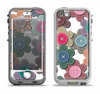 The Striped Vector Flower Buttons Apple iPhone 5-5s LifeProof Nuud Case Skin Set