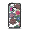 The Striped Vector Flower Buttons Apple iPhone 5-5s Otterbox Defender Case Skin Set