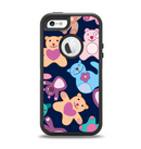 The Stuffed Vector Color-Bears Apple iPhone 5-5s Otterbox Defender Case Skin Set