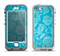 The Subtle Blue Floral Lace Pattern Apple iPhone 5-5s LifeProof Nuud Case Skin Set