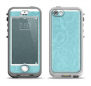 The Subtle Blue Floral Laced Apple iPhone 5-5s LifeProof Nuud Case Skin Set