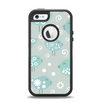 The Subtle Blue Multiple Birds Apple iPhone 5-5s Otterbox Defender Case Skin Set
