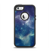 The Subtle Blue and Green Nebula Apple iPhone 5-5s Otterbox Defender Case Skin Set