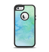 The Subtle Green & Blue Watercolor Apple iPhone 5-5s Otterbox Defender Case Skin Set