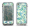 The Subtle Green Floral Vector Pattern Apple iPhone 5-5s LifeProof Nuud Case Skin Set