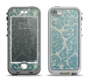The Subtle Green Lace Pattern Apple iPhone 5-5s LifeProof Nuud Case Skin Set