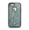The Subtle Green Lace Pattern Apple iPhone 5-5s Otterbox Defender Case Skin Set