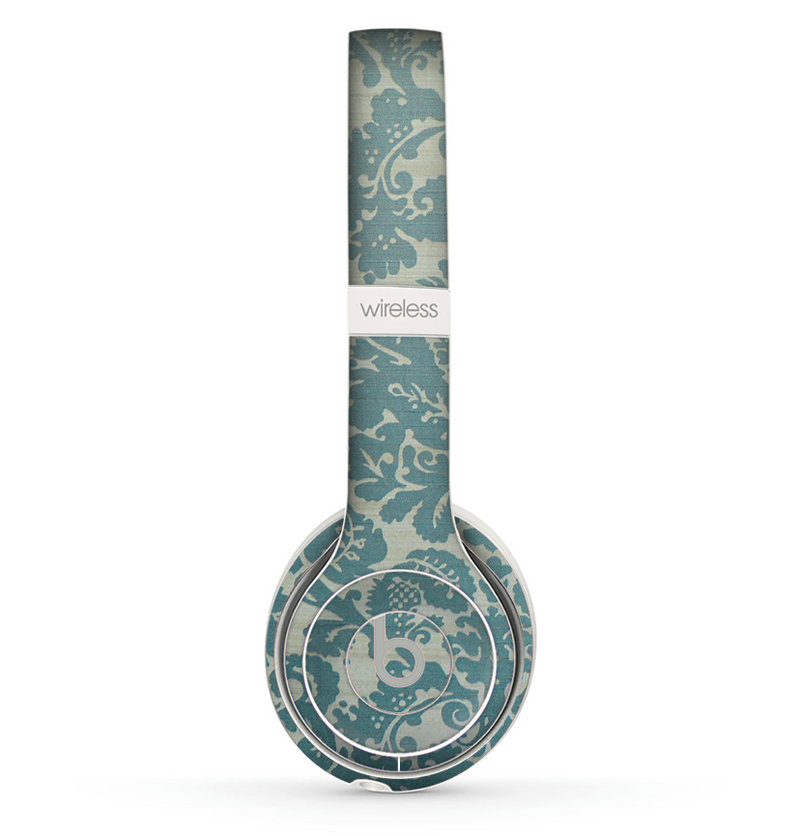 The Subtle Green Lace Pattern Skin Set for the Beats by Dre Solo 2 Wireless Headphones