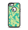The Subtle Green Seamless Leaves Apple iPhone 5-5s Otterbox Defender Case Skin Set