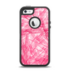 The Subtle Pink Watercolor Strokes Apple iPhone 5-5s Otterbox Defender Case Skin Set