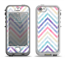 The Subtle Vintage Multi-Colored Chevron Pattern Apple iPhone 5-5s LifeProof Nuud Case Skin Set