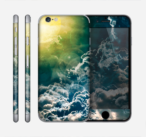 The Sun with Clouds Sectioned Skin Series for the Apple iPhone 6/6s Plus