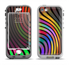The Swirled Neon Abstract Lines Apple iPhone 5-5s LifeProof Nuud Case Skin Set