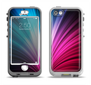The Swirly HD Pink & Blue Lines Apple iPhone 5-5s LifeProof Nuud Case Skin Set
