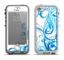 The Swirly Vector Water-Splash Pattern Apple iPhone 5-5s LifeProof Nuud Case Skin Set