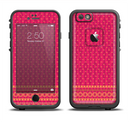The Tall Pink & Orange Vintage Pattern Apple iPhone 6/6s LifeProof Fre Case Skin Set