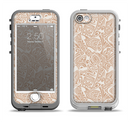 The Tan Abstract Vector Pattern Apple iPhone 5-5s LifeProof Nuud Case Skin Set
