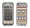The Tan & Color Aztec Pattern V32 Apple iPhone 5-5s LifeProof Nuud Case Skin Set