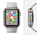 The Tan & Color Aztec Pattern V32 Full-Body Skin Set for the Apple Watch