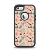 The Tan Colorful Hipster Icons Apple iPhone 5-5s Otterbox Defender Case Skin Set