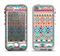 The Tan & Teal Aztec Pattern V4 Apple iPhone 5-5s LifeProof Nuud Case Skin Set
