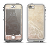 The Tan Vintage Subtle Laced Texture Apple iPhone 5-5s LifeProof Nuud Case Skin Set