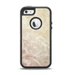 The Tan Vintage Subtle Laced Texture Apple iPhone 5-5s Otterbox Defender Case Skin Set