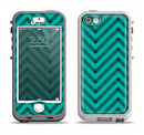The Teal & Black Sketch Chevron Apple iPhone 5-5s LifeProof Nuud Case Skin Set