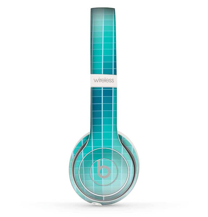 The Teal Disco Ball Skin Set for the Beats by Dre Solo 2 Wireless Headphones