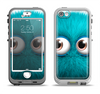 The Teal Fuzzy Wuzzy Apple iPhone 5-5s LifeProof Nuud Case Skin Set
