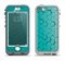 The Teal Hexagon Pattern Apple iPhone 5-5s LifeProof Nuud Case Skin Set