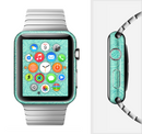 The Teal Leaf Laced Pattern Full-Body Skin Set for the Apple Watch