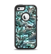 The Teal Mercury Apple iPhone 5-5s Otterbox Defender Case Skin Set