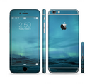 The Teal Northern Lights Sectioned Skin Series for the Apple iPhone 6/6s Plus