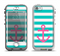 The Teal Striped Pink Anchor Apple iPhone 5-5s LifeProof Nuud Case Skin Set